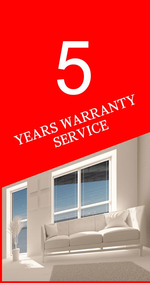 years warranty service